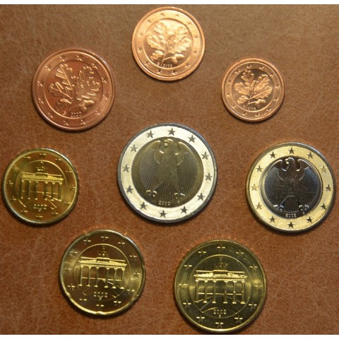 """Set of 8 coins Germany 2002 """"G"""" (UNC)"""