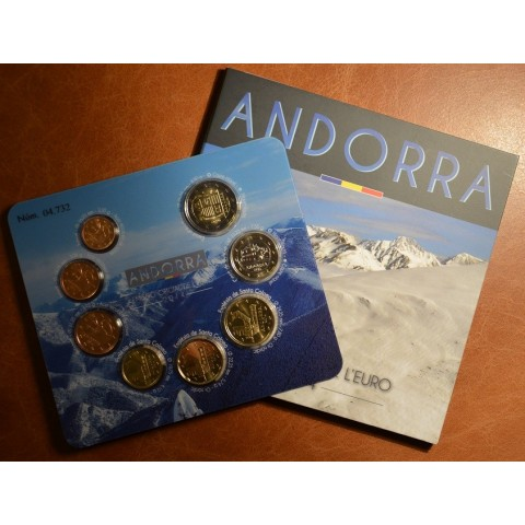 Set of 8 Euro coins Andorra 2014 (BU)