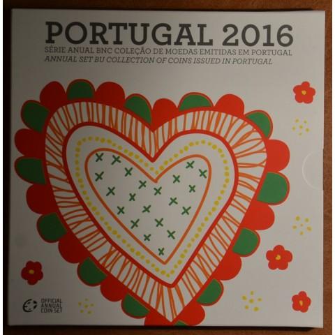 Sada 8 portugalských mincí 2016 (BU)