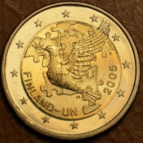 2 Euro Fínsko 2005 - 60. výročie založenia OSN a 50. výročie členstva (UNC)