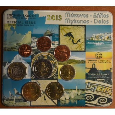 Set of 8 eurocoins Greece 2013 (BU)