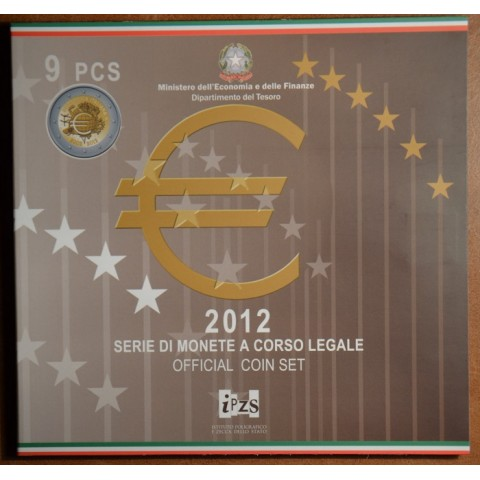 Italy 2012 official set with commemorative 2 Euro coin (BU)