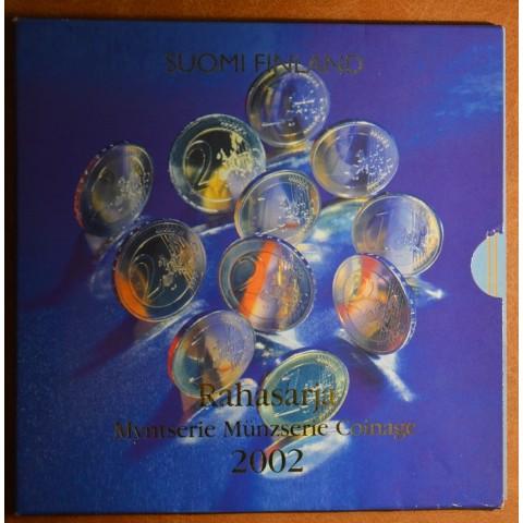 Set of 8 eurocoins Finland 2002 (BU)