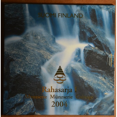 Set of 8 eurocoins Finland 2004 (BU)