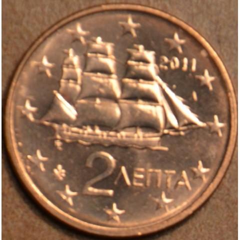 2 cent Grécko 2011 (UNC)