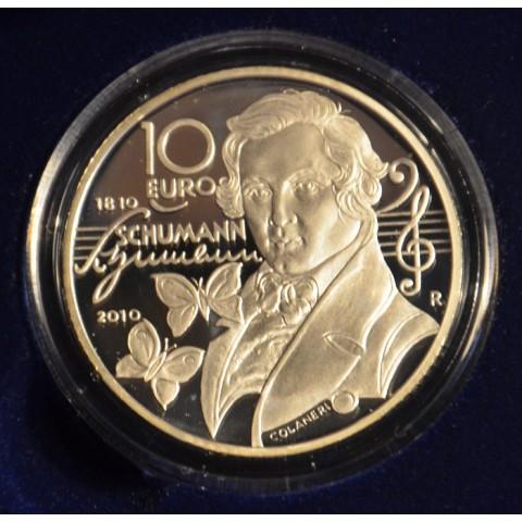 10 Euro San Marino 2010 - Robert Schumann (Proof)