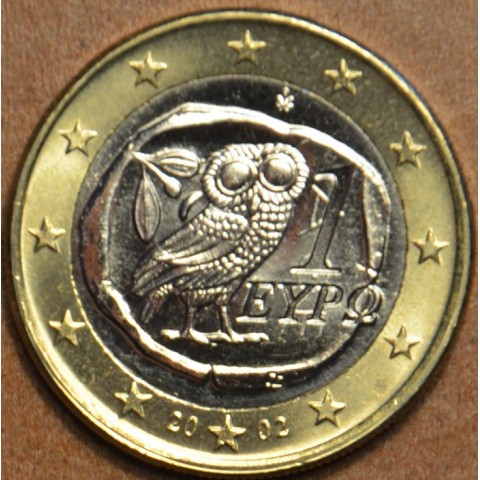 "1 Euro Grécko ""S"" 2002 (UNC)"
