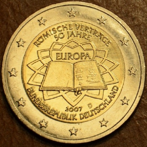 """2 Euro Germany """"D"""" 2007 - 50th anniversary of the Treaty of Rome (UNC)"""