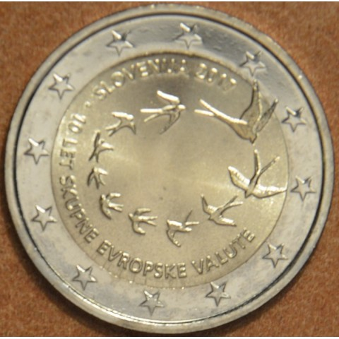 2 Euro Slovenia 2017 - 10 years of Euro (UNC)