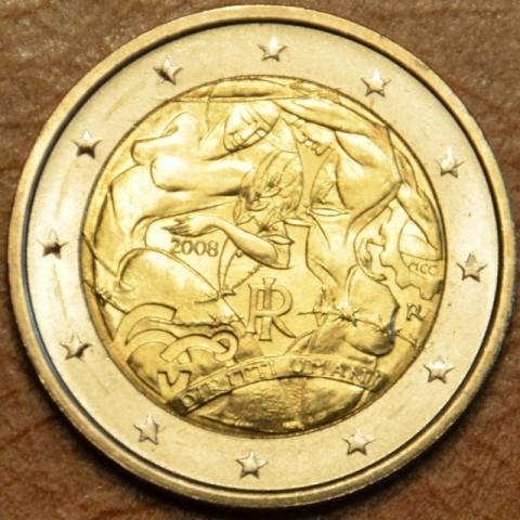 2 Euro Taliansko 2008 - 60. výročie Všeobecnej deklarácie ľudských práv (UNC)