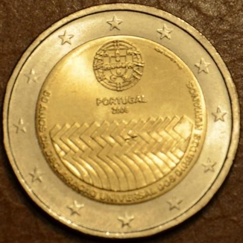 2 Euro Portugalsko 2008 - 60. výročie Všeobecnej deklarácie ľudských práv (UNC)