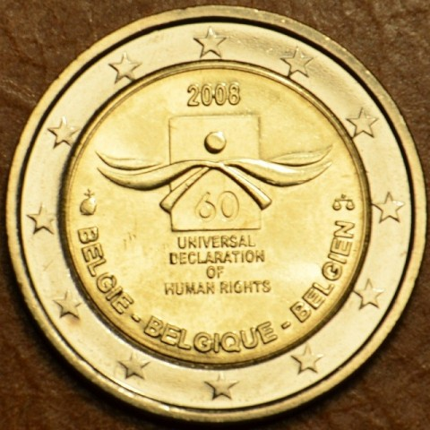 2 Euro Belgium 2008 - 60th anniversary of the Universal Declaration of Human Rights (UNC)