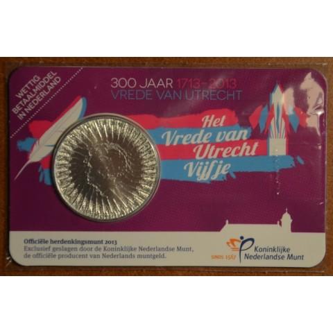 5 Euro Netherlands 2013 - 400 years of Treaty Utrecht (BU card)