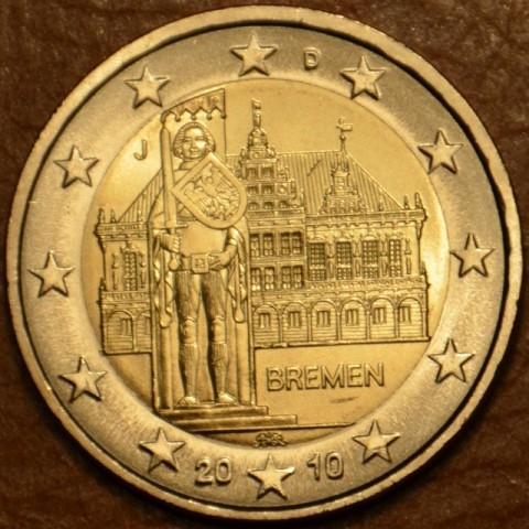 "2 Euro Germany ""J"" 2010 - Bremen: Town hall with sculpture of Roland  (UNC)"