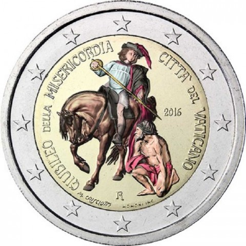 2 Euro Vatican 2016 - Jubilee of Mercy (colored UNC)