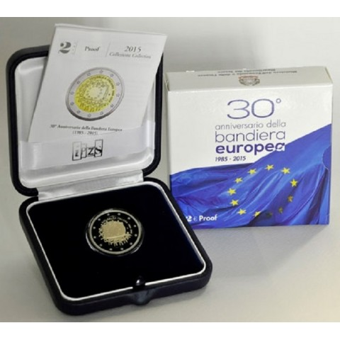 2 Euro Italy 2015 - 30 years of European flag (Proof)
