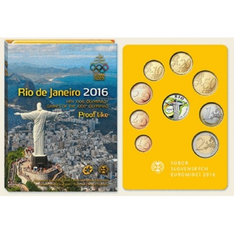 Set of 8 Slovak coins 2016 RIO (Proof)