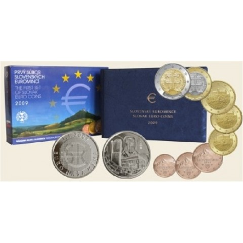 First set of Slovak coins 2009 (Proof)