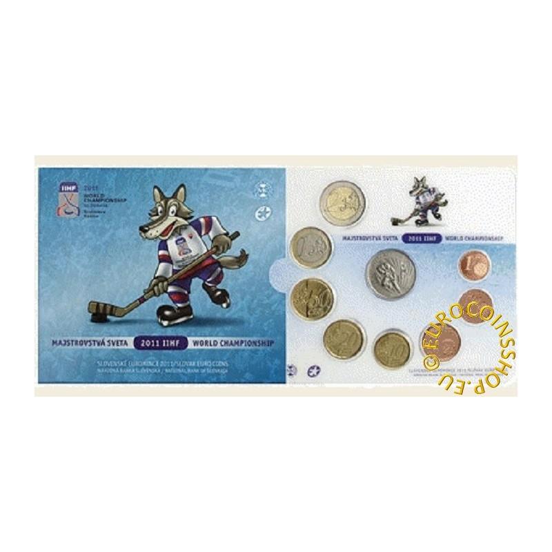 42ba0515576be Euromince mince Sada Slovenských mincí 2011 - Majstrovstvá sveta 20...