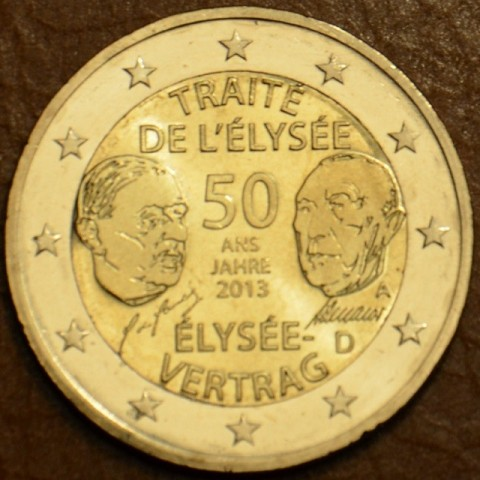 "2 Euro Germany ""A"" 2013 - 50 Years of the Élysée Treaty (UNC)"