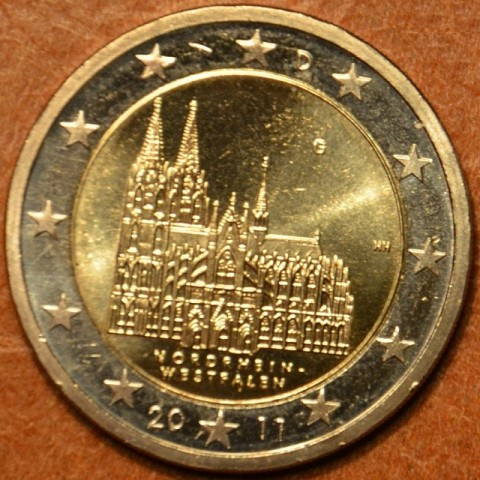 "2 Euro Germany ""G"" 2011 - North Rhine-Westphalia: Cathedral in Köln (UNC)"