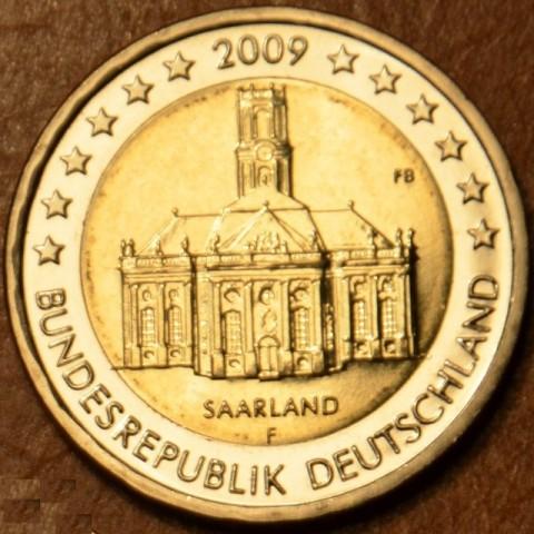 """2 Euro Nemecko """"F"""" 2009 - Sársko: Kostol Ludwigskirche (UNC)"""