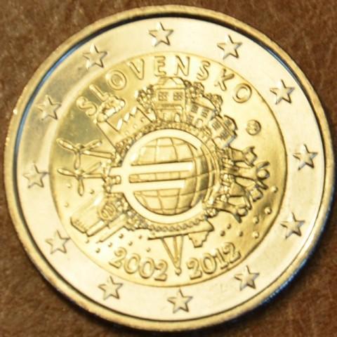 2 Euro Slovensko 2012 - Ten years of Euro  (UNC)
