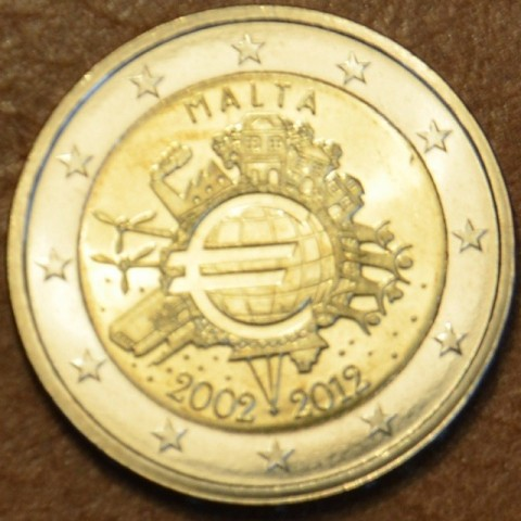 2 Euro Malta 2012 - Ten years of Euro  (UNC)