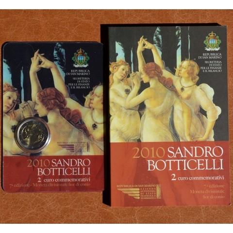 2 Euro San Marino 2010 - 500. výročie smrti Sandra Botticelliho (BU)