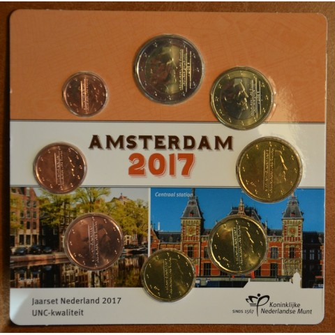 Set of 8 coins Netherlands 2017 (UNC)
