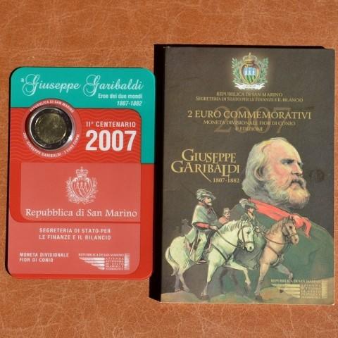2 Euro San Marino 2007 - 200. výročie narodenia Giuseppeho Garibaldiho (BU)