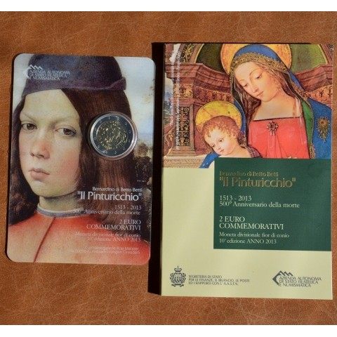 2 Euro San Marino 2013 - The 500th Anniversary of the Death of Malers Pinturicchio (BU)