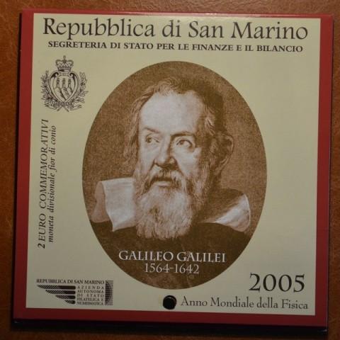 2 Euro San Marino 2005 - Galileo Galilei, medzinárodný rok fyziky (BU)