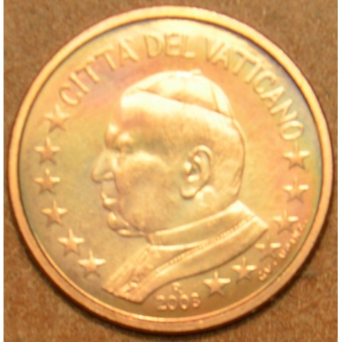 1 cent Vatikán Ján Pavol II 2003 (BU)