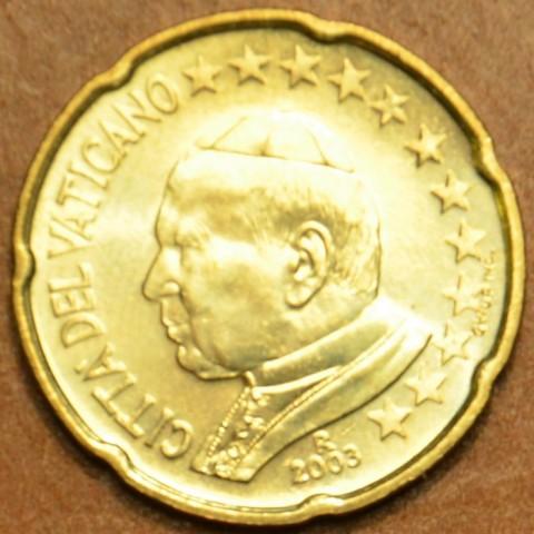 20 cent Vatican His Holiness Pope John Paul II 2003 (BU)