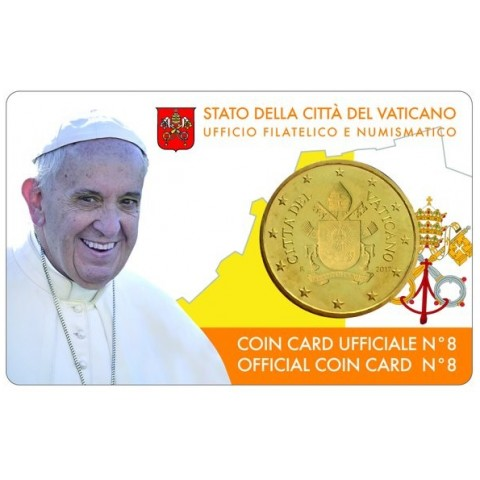 50 cent Vatican 2017 official coin card No. 8 (BU)