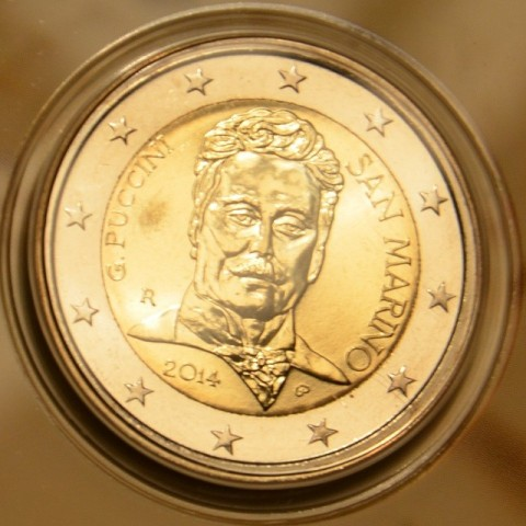2 Euro San Marino 2014 - 90th anniversary of the death of Giacomo Puccini (BU)