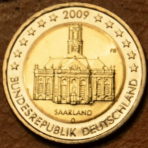 "2 Euro Nemecko ""D"" 2009 - Sársko: Kostol Ludwigskirche (UNC)"