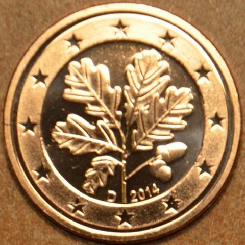"""2 cent Germany """"D"""" 2014 (UNC)"""