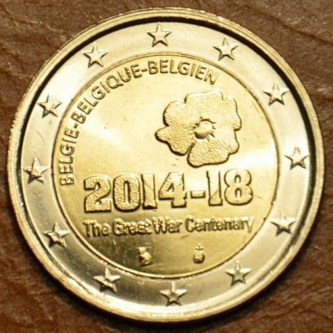 2 Euro Belgicko - 100. výročie prvej svetovej vojny (UNC)