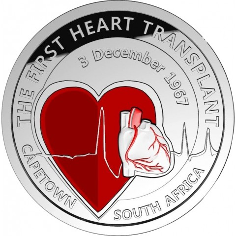 5 Euro Belgium 2017 Heart transplantation (Proof)