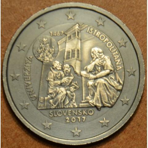 2 Euro Slovakia 2017 - Univerzita Istropolitana (Antic design)