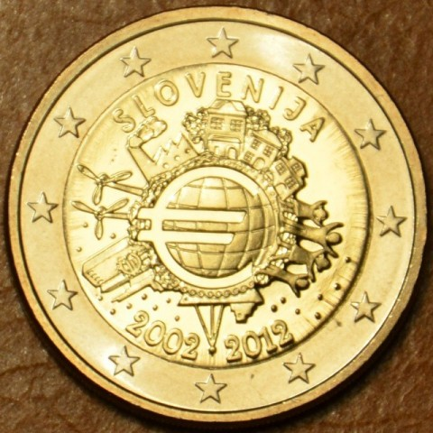 2 Euro Slovenia 2012 - Ten years of Euro  (UNC)