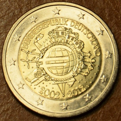 "2 Euro Germany ""D"" 2012 - Ten years of Euro  (UNC)"