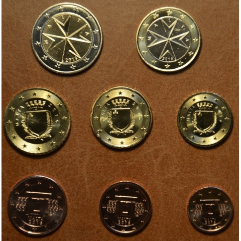 Set of 8 eurocoins Malta 2017 (UNC)
