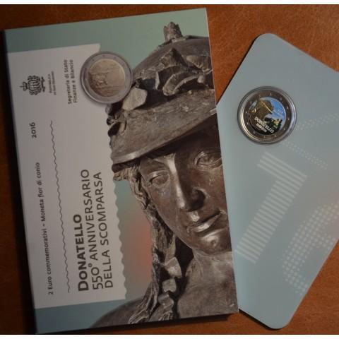 2 Euro San Marino 2016 - 550th anniversary of the death of Donatello  (colored UNC)