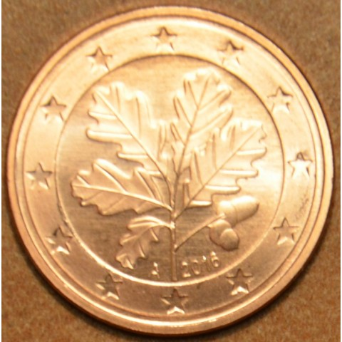 """1 cent Germany """"A"""" 2016 (UNC)"""