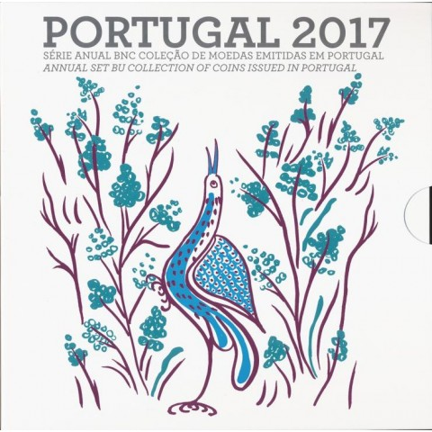 Sada 8 portugalských mincí 2017 (BU)