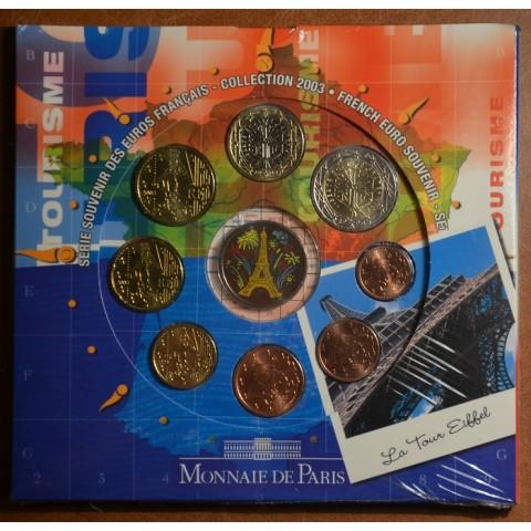 Set of 8 eurocoins France 2003 Eiffel  (BU)