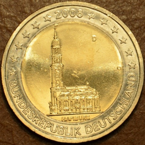 "2 Euro Germany ""D"" 2008 - Hamburg: St. Michaelis' Church (UNC)"